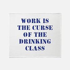 drinking class Throw Blanket