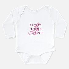 Cute flower girl Long Sleeve Infant Bodysuit