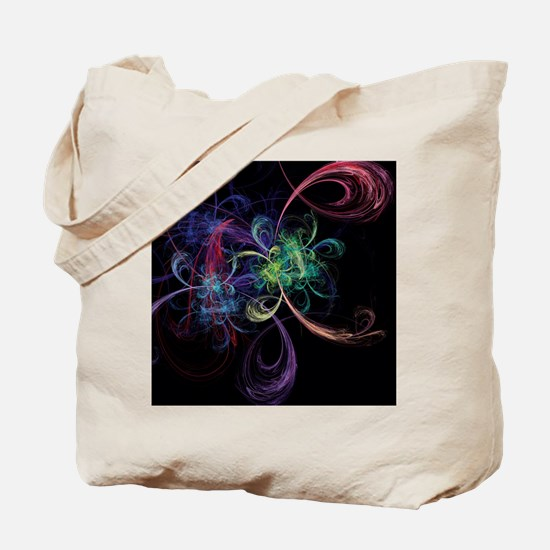 Abstract Art Space Flowers Tote Bag