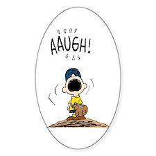 Baseball Aaugh! Sticker (Oval)
