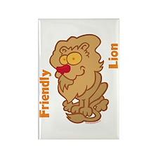 Lion Friend Rectangle Magnet