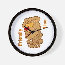 Lion Friend Wall Clock