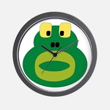 Silly Frog Wall Clock