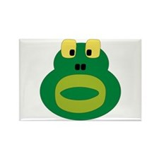 Silly Frog Rectangle Magnet