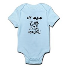 My Dad Rocks Drums Infant Bodysuit