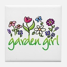 Garden Girl 2 Tile Coaster