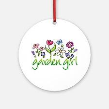 Garden Girl 2 Ornament (Round)
