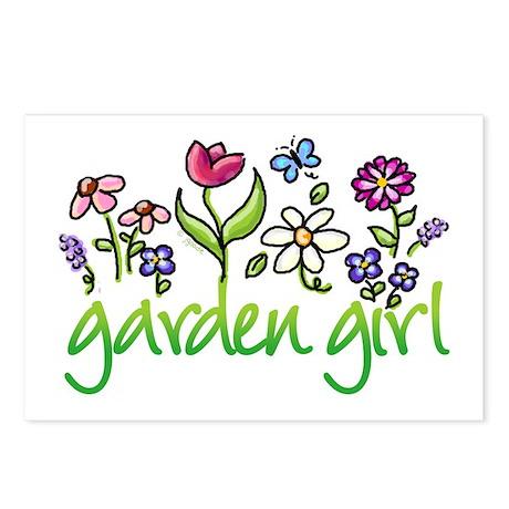 Garden Girl 2 Postcards (Package of 8)