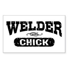 Welder Chick Decal
