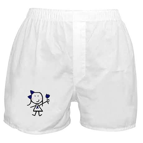 Girl & Blue Ribbon Boxer Shorts