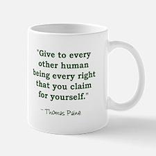 Thomas Paine - Human Rights Q Mug