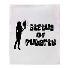 Statue Of Puberty Throw Blanket