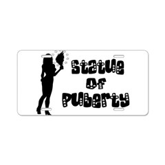 Statue Of Puberty Aluminum License Plate