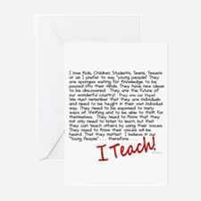 I Teach Greeting Cards (Pk of 10)
