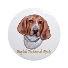 Englisg Foxhounds Rock Ornament (Round)