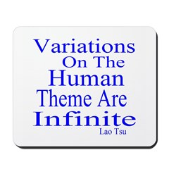 Variations Of Humanness Mousepad