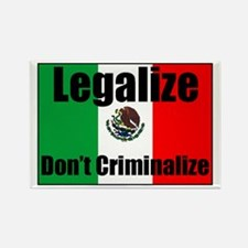 Legalize Dont Criminalize Rectangle Magnet