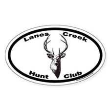 Lanes Creek Hunt Club Euro Oval Decal