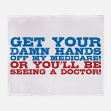 Hands off My Medicare Throw Blanket