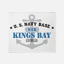 US Navy Kings Bay Base Throw Blanket