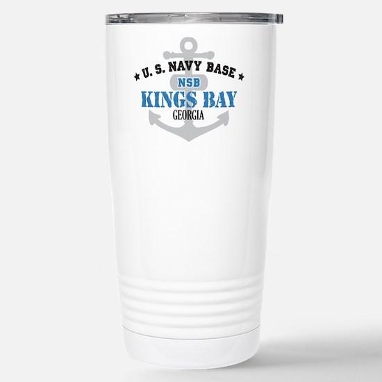US Navy Kings Bay Base Stainless Steel Travel Mug