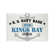 US Navy Kings Bay Base Rectangle Magnet