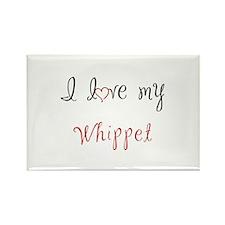 I Love My Whippet Rectangle Magnet (100 pack)