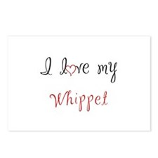 I Love My Whippet Postcards (Package of 8)