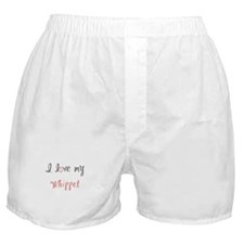 I Love My Whippet Boxer Shorts