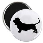basset hound silhouette Magnet
