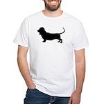 basset hound silhouette White T-Shirt