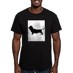 basset hound silhouette Men's Fitted T-Shirt (dark