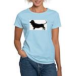 basset hound silhouette Women's Light T-Shirt