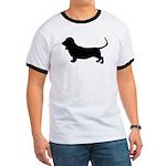 basset hound silhouette Ringer T