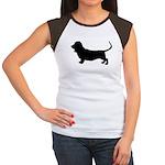 basset hound silhouette Women's Cap Sleeve T-Shirt