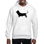 basset hound silhouette Hooded Sweatshirt