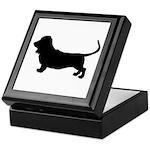 basset hound silhouette Keepsake Box