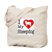 I Love My Bearded Collie Tote Bag