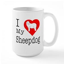 I Love My Bearded Collie Mug