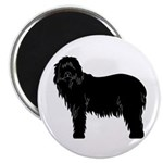 Bearded Collie Silhouette Magnet