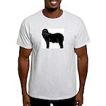 Bearded Collie Silhouette Light T-Shirt