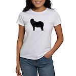 Bearded Collie Silhouette Women's T-Shirt