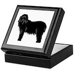 Bearded Collie Silhouette Keepsake Box