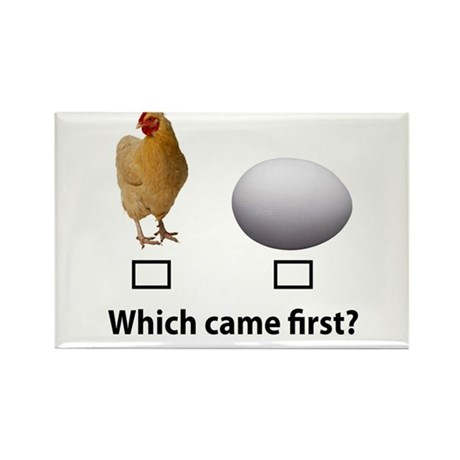 Chicken or Egg Rectangle Magnet