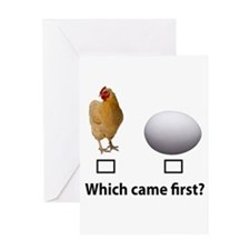 Chicken or Egg Greeting Card