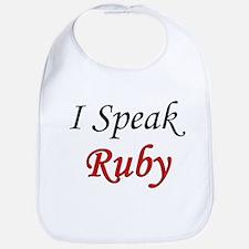 """""""I Speak Ruby"""" Bib"""