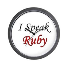 """I Speak Ruby"" Wall Clock"