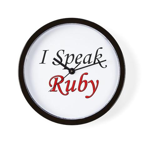 """""""I Speak Ruby"""" Wall Clock"""