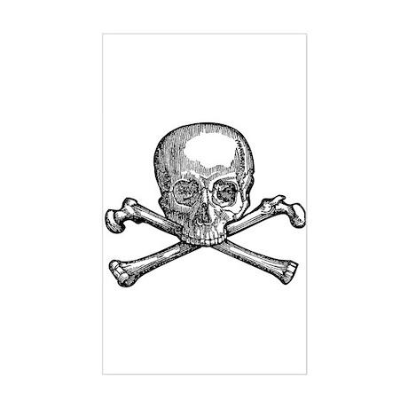 Masonic Skull Sticker (Rectangle)