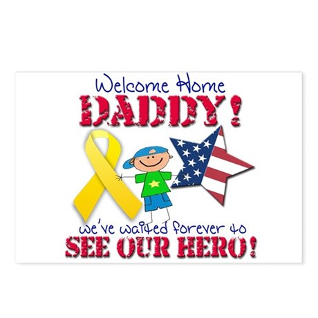 Welcome Home Daddy Postcards (Package of 8)